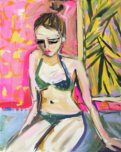 Swimsuit Figurative Print on Paper or Canvas,
