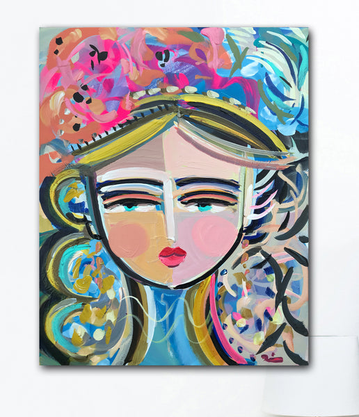 Warrior Girl Print by Maren Devine, Paper or canvas, ESTELL