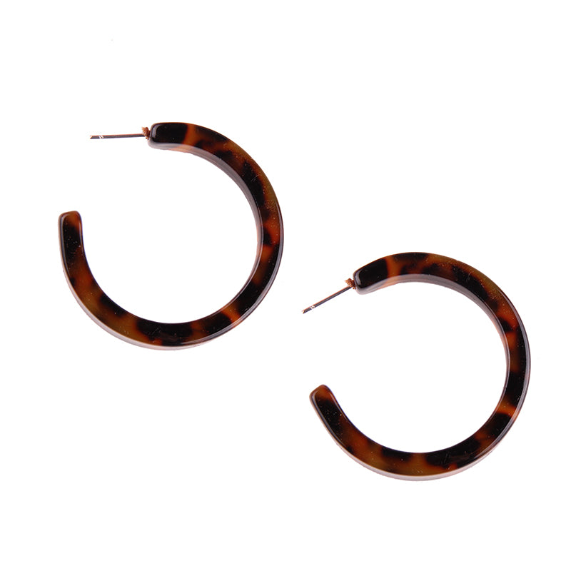 Kitale Resin Stud Hoops