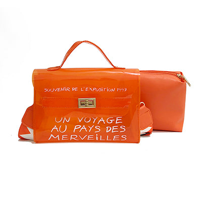 Merveilles Transparent Travel Letter Bag