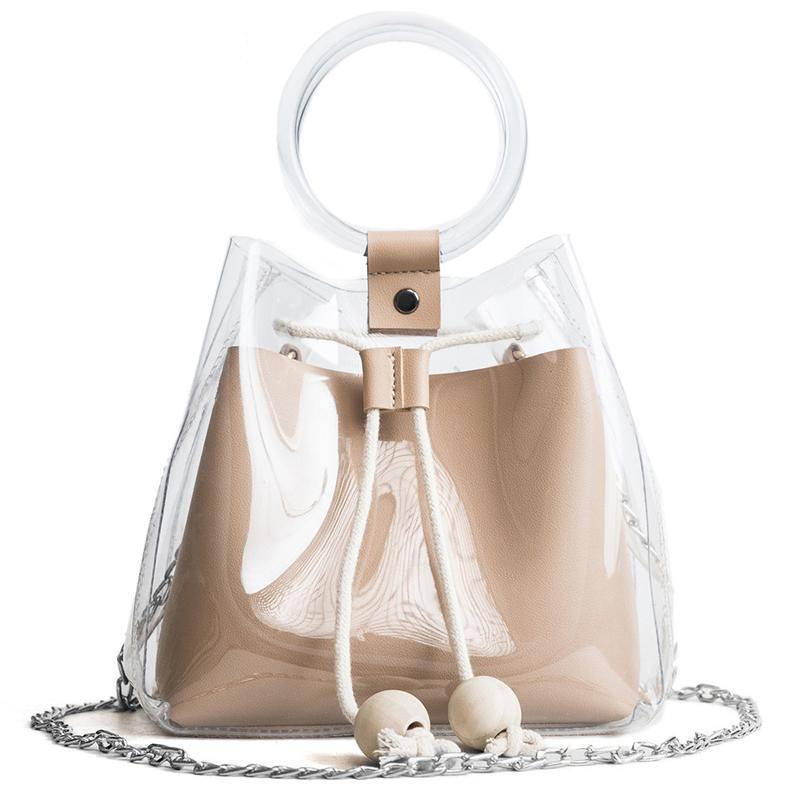 The Hype Transparent Drawstring Tote Bag