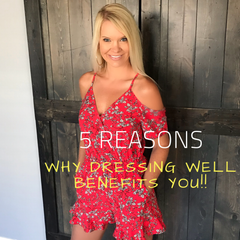 "Hitting snooze a few less times in the morning, thinking a little harder on what to wear, maybe pinning a few inspirational ""cute outfit ideas"" on Pinterest and having a few important staple items in that closet of yours will benefit YOU more than you could ever imagine. Here are my 5 Reasons Why Dressing Well Benefits YOU! Click on https://lolligagin.com/blogs/lolligagin to read."