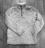 Grey Sherpa Fleece Pullover