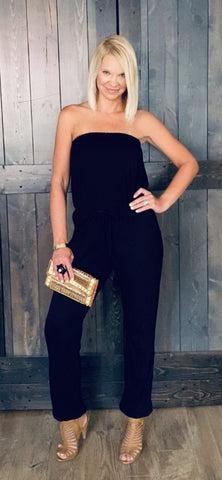 Black Tube Jumpsuit
