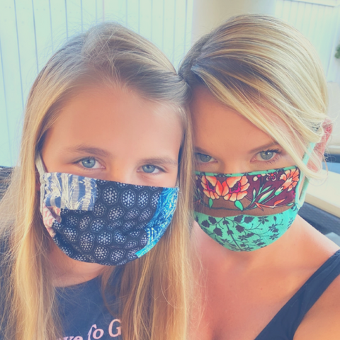 Who says you can't be fashionable when wearing a mask?! Shop Lolligagin.com to purchase.