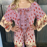 Sunset Paisley Romper