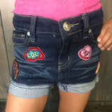 Girl Power Denim Shorts