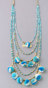 Pom and Bead Necklace