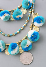 Load image into Gallery viewer, Pom and Bead Necklace