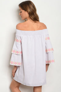 Bell Sleeve Off Shoulder Dress