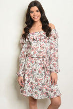 Load image into Gallery viewer, Ivory Off the Shoulder Dress