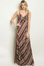 Load image into Gallery viewer, Multicolored Striped Maxi Dress
