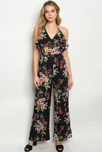 Load image into Gallery viewer, Halter Flowered Pantsuit
