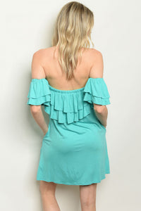 Off The Shoulder Mint Dress
