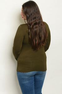 Curvy Olive Green Top