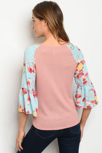 Blush and Floral Top