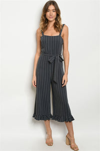 Charcoal Stripes Jumpsuit