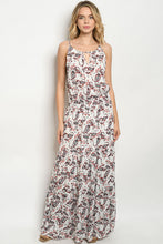 Load image into Gallery viewer, Ivory Floral Long Maxi Dress