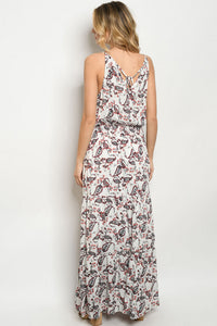 Ivory Floral Long Maxi Dress