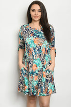 Load image into Gallery viewer, Floral Dress with Pockets