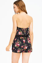 Load image into Gallery viewer, BLACK FLORAL PRINT BOHO ROMPER