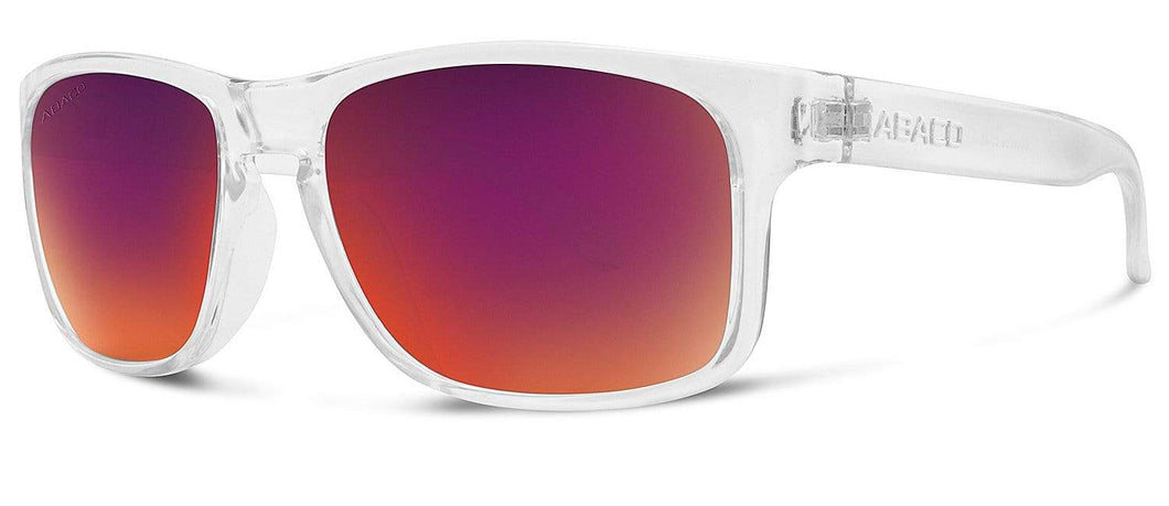 Dockside Sunglasses Crystal Clear Frame Sunset Mirror Lenses