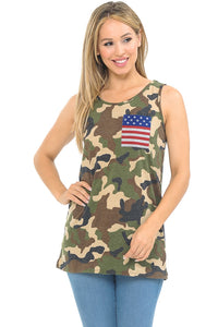 Army Tank with Flag Pocket