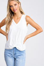Load image into Gallery viewer, Sleeveless White V-Neck