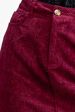 Load image into Gallery viewer, Wine Corduroy Skirt