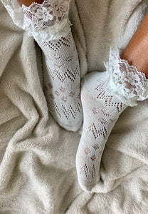 Lace Mint Footsies