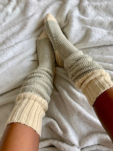 Sage and Oats Cozy Socks