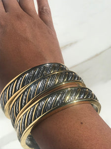 Yurman-Ish Bangle