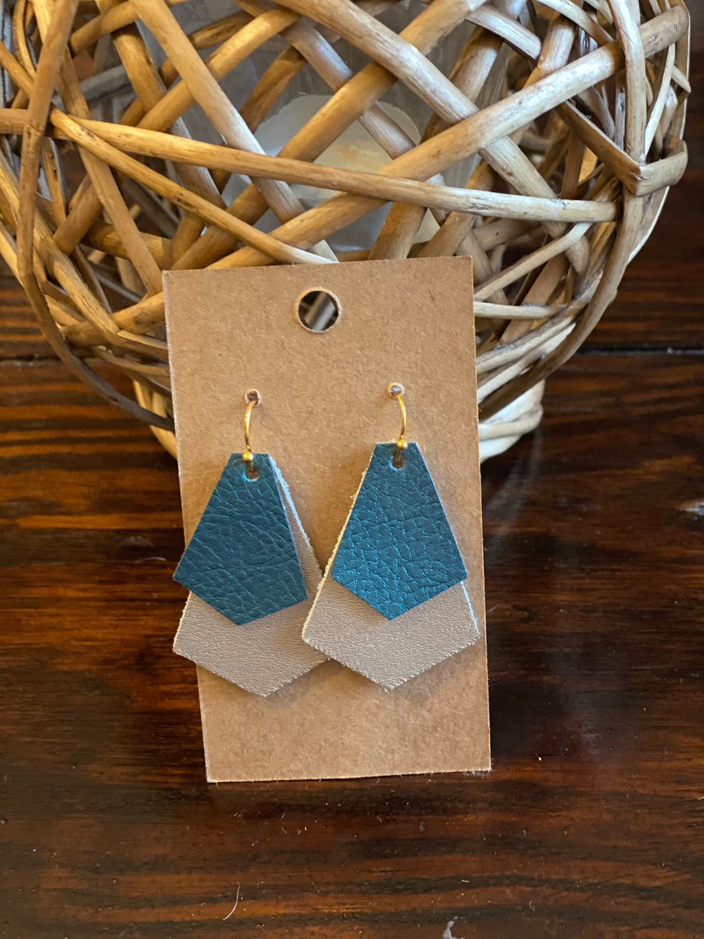 Double Decker Leather Earring