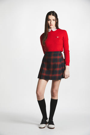 Plaid Pleated School Girl Skirt - L'école Des Femmes