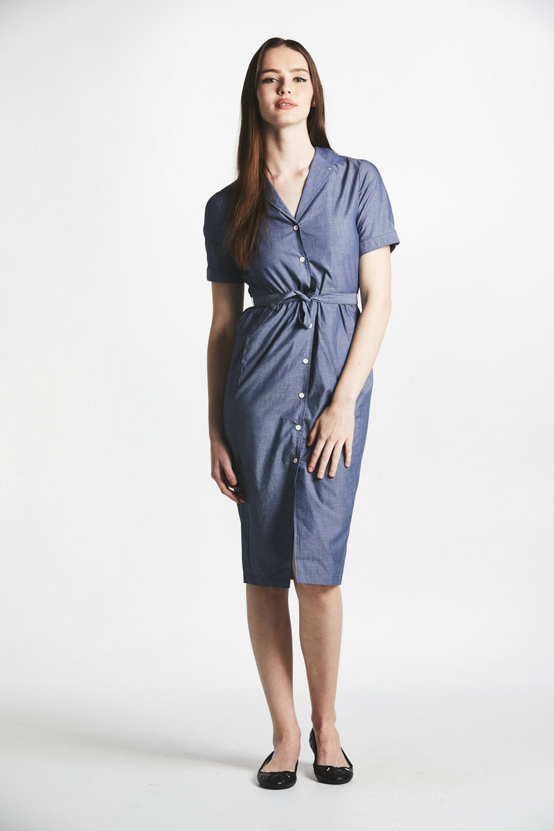 Chambray Bardot Dress