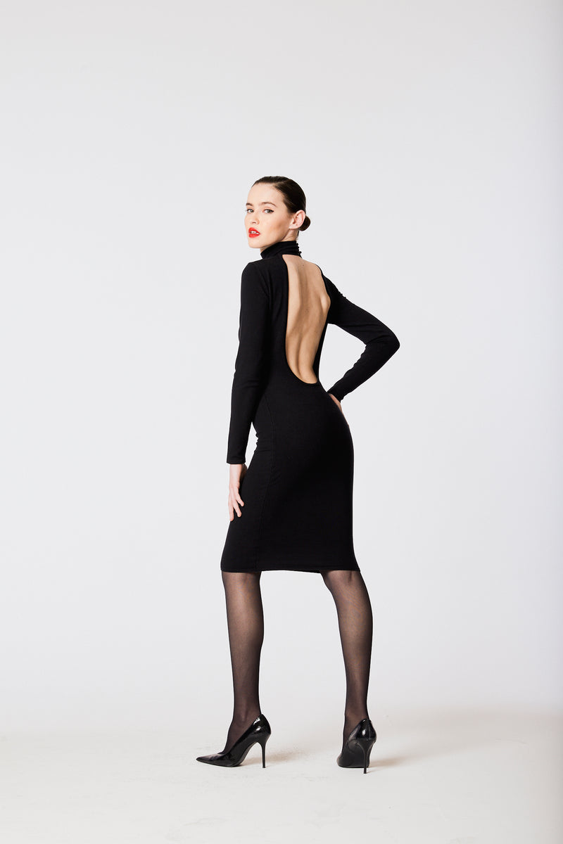 Backless Choker Dress - L'école Des Femmes