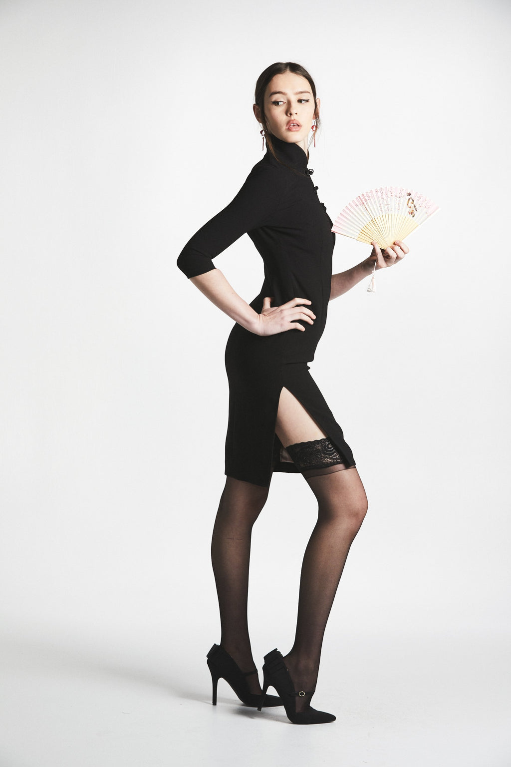 The Lady Shanghai Dress (Black) - L'école Des Femmes