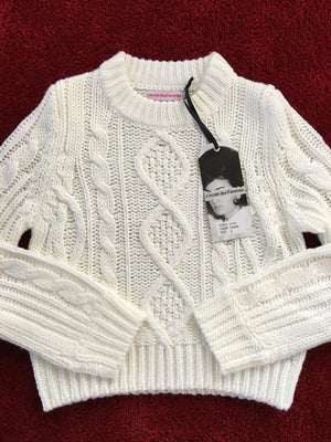 Cable Knit Cream Sweater
