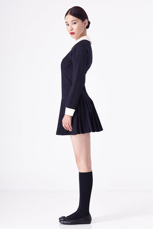 Navy Belle De Jour Dress