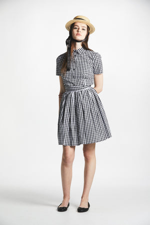 Gingham Button-Up Shirt - L'école Des Femmes
