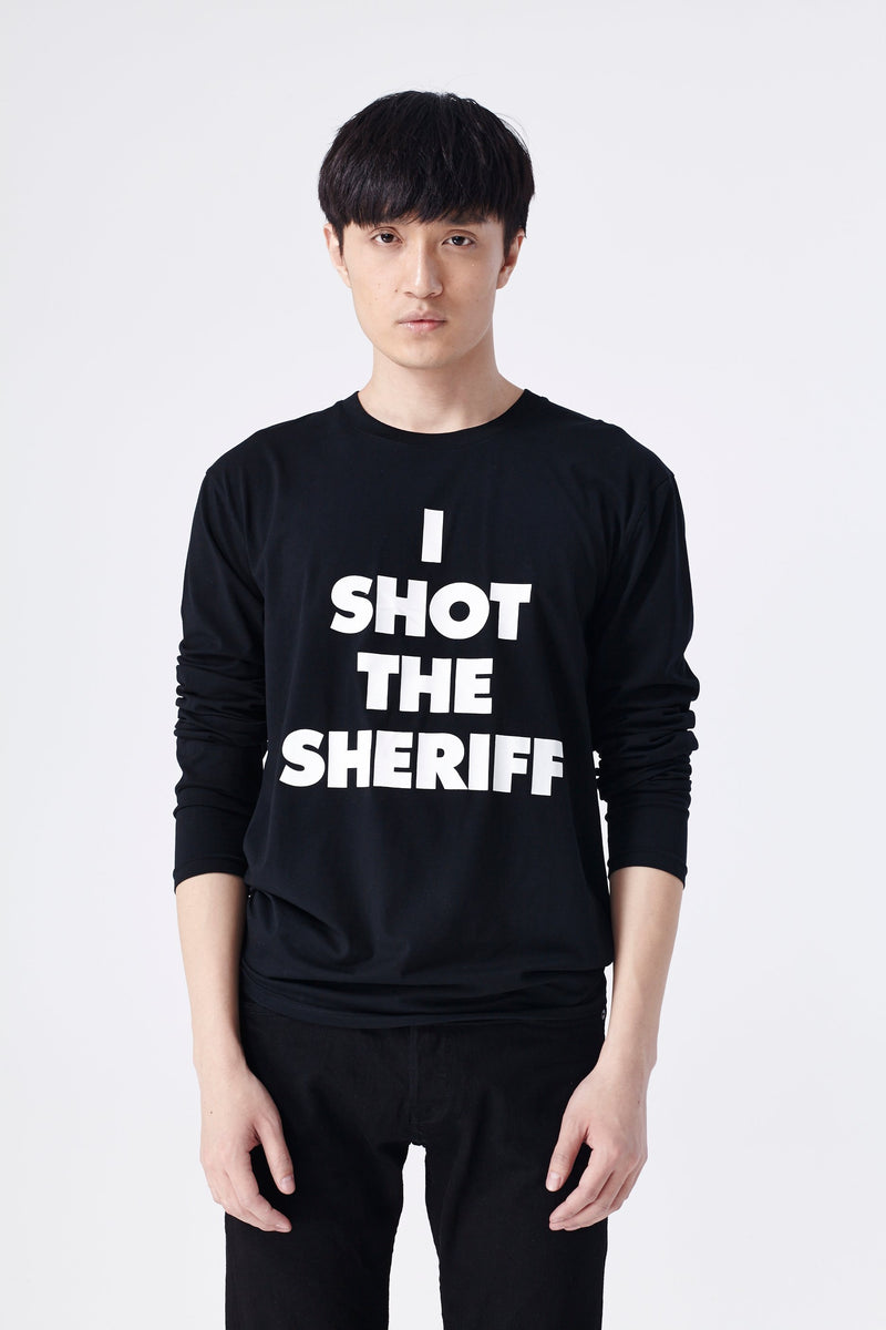 I Shot The Sheriff Long Sleeve Tee (Black) - L'école Des Femmes