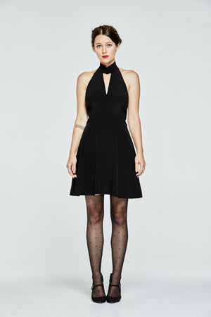 Mandarin Backless Dress - L'école Des Femmes