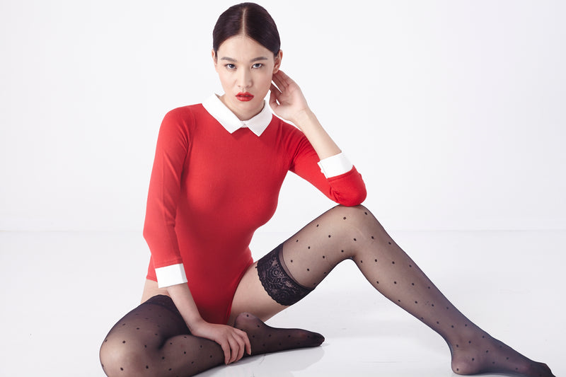 Le Knit Bodysuit (Red)