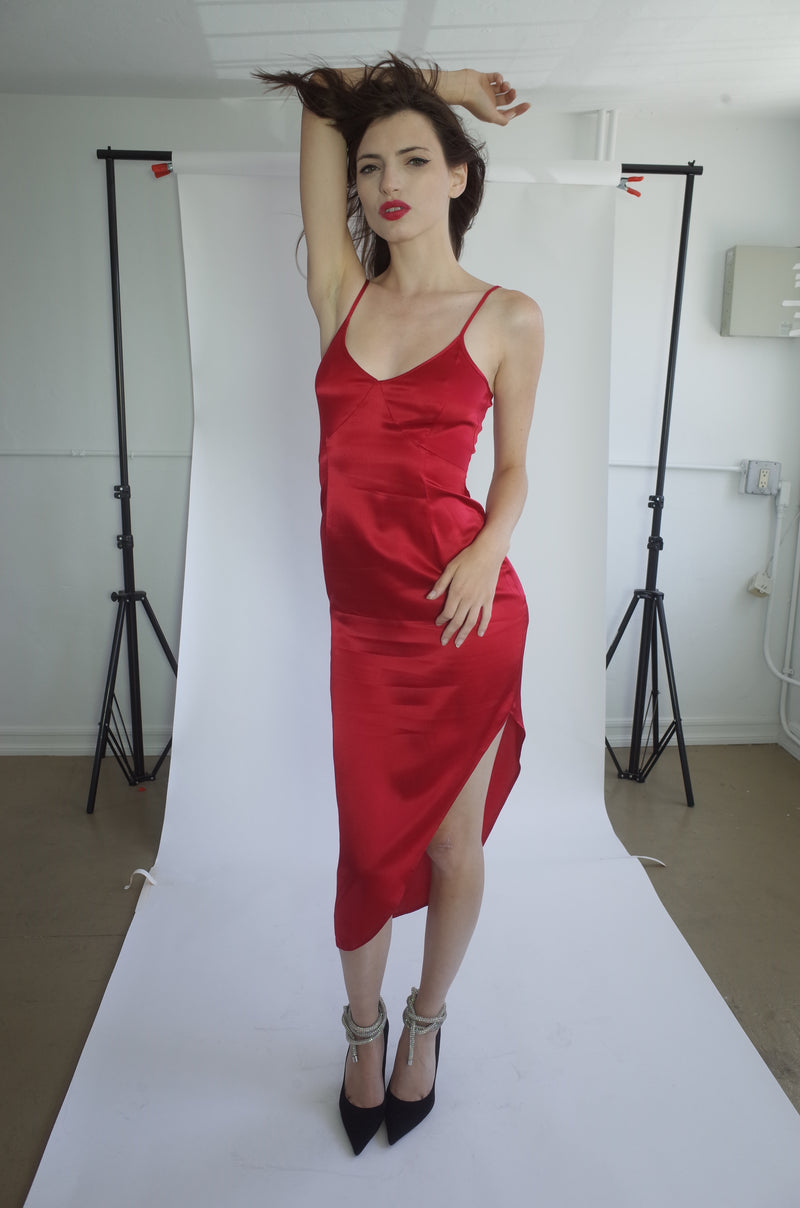 Red Silk Gown