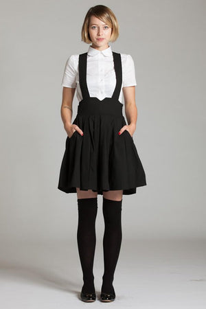 Suspender Skirt with Pockets - L'école Des Femmes
