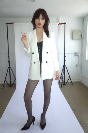 Double Breasted Jacket (White)