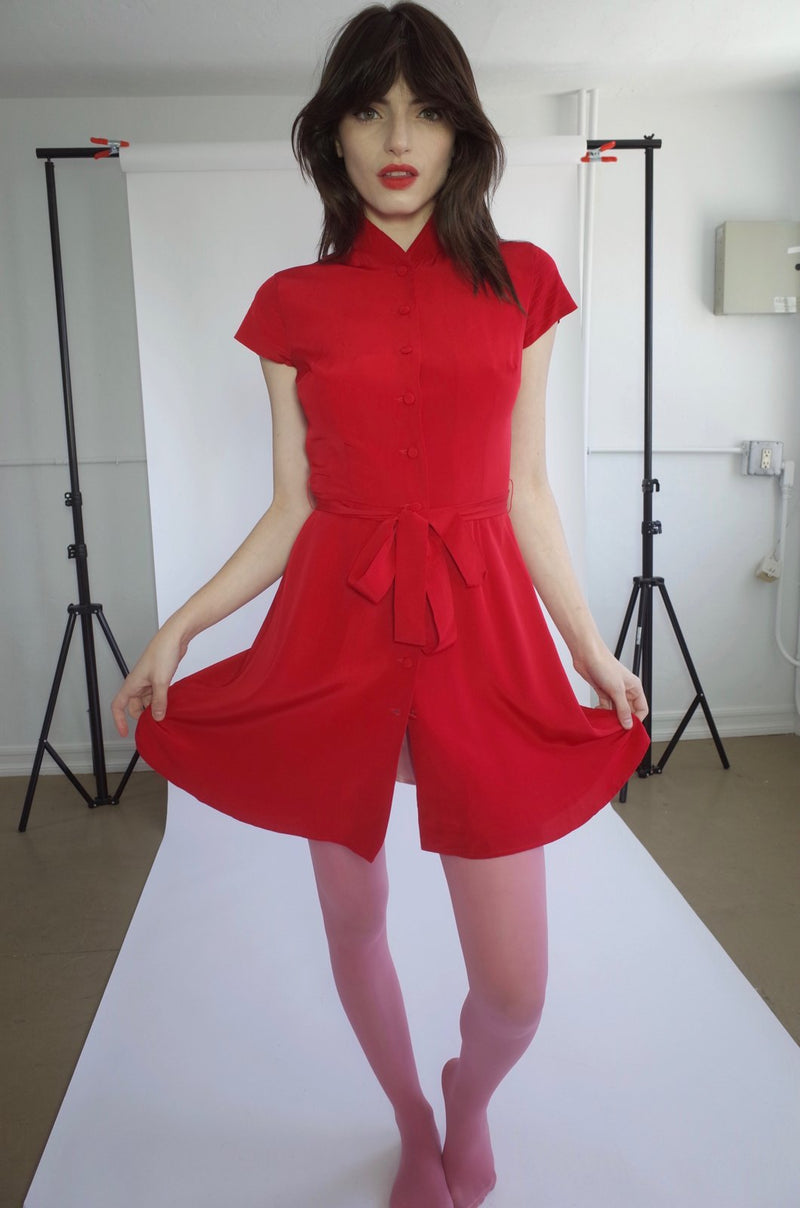 Petite Robe Chinoise Red L Ecole Des Femmes