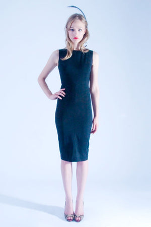 Cut Out Back Dress (Black) - L'école Des Femmes