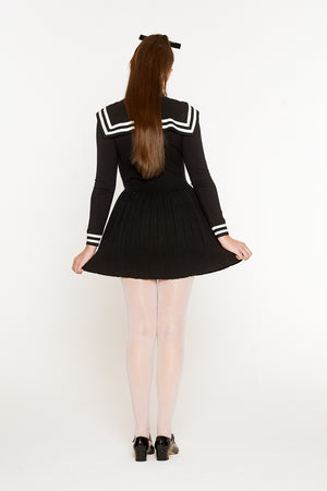 Sailor Pleated Knit Dress