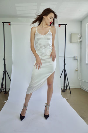 White Silk Gown